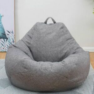 Bean Bag Sofas Cover Chairs Without Filler Cloth Lounger Seat Room Puff Couch
