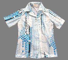 aa8fb24d Women's Ladies Vintage 70's Japanese White Geometric Print Shirt ...