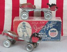 Vintage 1930s Irving Jaffee Olympic Champion Roller Skates Box w/ Whizzer Skates