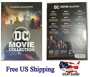 Brand New DC 24-Film Movie Collection 12 DVDs -Disc Box Set Superman & Batman