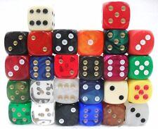 """26 dadi - """"vari tipi e colori 6 facce"""" - 15 mm."""