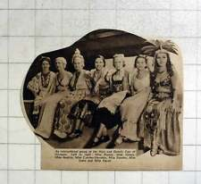 1936 Hair And Beauty Fair Olympia, Miss Russia, Greece, Austria, Sweden, India,