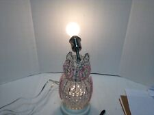 Pottery Barn Kids Hayley Crystal Glowing Owl Table Nursey Bedside Lamp Shade