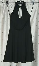 Jane Norman ~ Ladies Little Black Lace Back Choker Dress ~ Size 6 ~ NWT ~ *£39