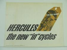 Vintage 1965 ? Hercules Dealer Brochure K-103 Sport Prior K-50 220-KF L2249
