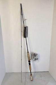 Pflueger Monarch Spinning 6ft 6in Combo Cork Handle 2 Piece Fishing Rod & Reel