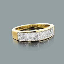 Diamantes Joya De Oro 14 K 14 Amarillo Anillos 0,95 Quilates Wesselton H Nuevo