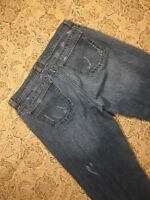 DKNY Womens Designer Blue Jeans Size 8L Boot Cut Casual Western Denim Pants Cute
