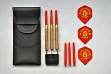 BRASS FOOTBALL DARTS SET MANCHESTER UNITED 22g