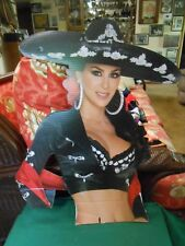 Great Collectible  Beautiful MEXICAN Woman Cardboard Sign.......FREE POSTAGE USA