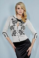 Wheels and Dollbaby Silver Dita Cardigan, AU 8/US 4, Pinup, Holiday