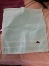 Lacoste Face Towel Wash Cloth Sky Blue New