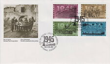CANADA #1541-1544 43¢ SECOND WORLD WAR 1945 FIRST DAY COVER - A
