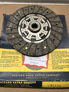 1960 through 1962 Ford falcon Mercury Comet clutch plate disc in box 6 cylinder