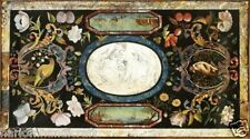 4'x2' Marble Dining Table Top Real Pietradure Inlay Mosaic Work Home Decor H1525