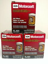 New OEM Genuine Motorcraft Ford Engine Oil Filter F32Z-6731-A FL822 Lot of 3