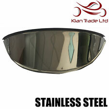 "UNIVERSAL MOTORBIKE STAINLESS STEEL HEADLIGHT LAMP SHADE VISOR 7"" - BRAND NEW"