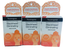 NEUTROGENA Blackhead Eliminating Pore Strip Facial Scrub Acne Treatment 3 Boxes