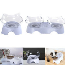 Dish Tilted Transparent Protect The Spine Cats Bowl Cat Ears Shaped Pet Feeder