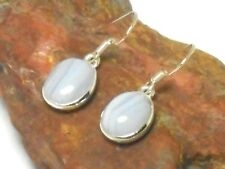 Blue Lace  AGATE  Sterling  Silver 925  Gemstone  EARRINGS  -  Gift  Boxed