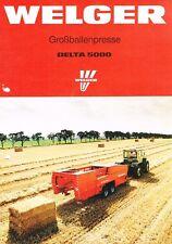 Welger Großballenpresse Delta 5000, orig. Prospekt 1990