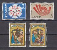 ANDORRA ESPAÑOLA (1973) AÑO COMPLETO NUEVO MNH SPAIN - EDIFIL 85/88