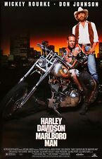 Harley Davidson and the Marlboro Man poster (a) : 11 x 17 inches : Mickey Rourke