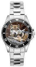 Wolf Wölfe Geschenk Fan Artikel Zubehör Fanartikel Uhr 20024
