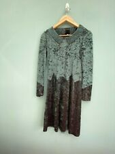 Anna Sui crushed velvet green dress size M