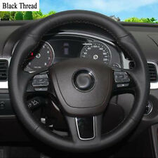 New DIY Sewing-on PU Leather Steering Wheel Cover Exact Fit For VW Touareg