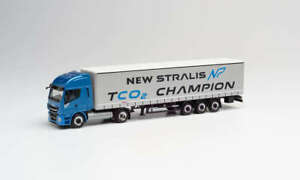 """Herpa 312271 Iveco Stralis Np 460 Plan Curtain - Trailer TCO2 Champion """" 1:87"""
