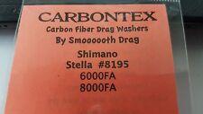1 Set Carbontex Drag Washers Fits Shimano Stella #8195 Fits STL-6000FA + 8000FA