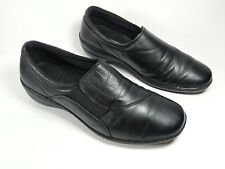 Loretta black leather slip on shoes uk 7 eu 40