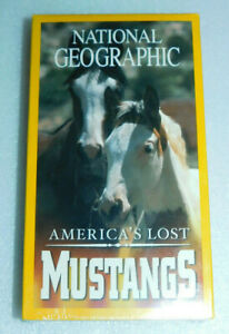 National Geographic America's Lost Mustangs VHS Documentary Horse Whisperer