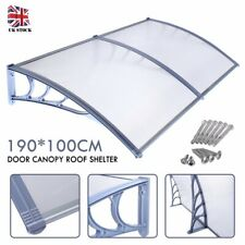 190*100cm Door Outdoor Canopy Roof Cover Awning Shelter Window Front Back Porch