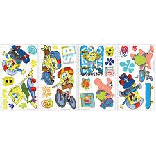 26 Spongebob Squarepants Sport Skateboard Wall Stickers Kids Decal Room decor