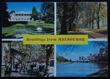 Greetings from Melbourne Como House Fitzroy Gardens c1970's Postcard (P243)