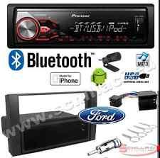 Pioneer MVH-390BT autoradio USB / bluetooth + Kit montaggio per FORD C-Max / S-