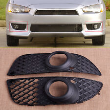 2x Fog Light Lamp Bumper Bezel Grille Cover Fit For Mitsubishi Lancer 2008-2014