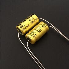 5pcs 10uF 100V ELUM NP 10x20mm 100V10uF Bipolar Axial Electrolytic Capacitor