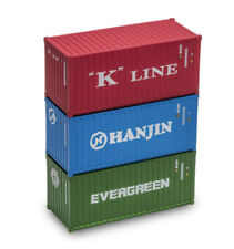 Menards O Scale 20-Foot Intermodal Containers (3-Pack) Grading C-9 FAST Ship