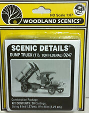HO/HOn3 Scale Woodland Scenics 'Dump Truck 1 1/2 Ton Federal' KIT, Item #D247