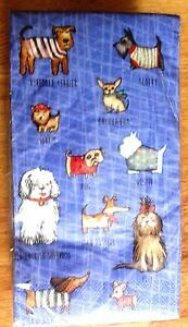 Paper Napkins WOOF Dog Guest Towels Buffet 20 Count 15-2/3 x 11-2/3 Inches New