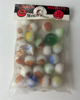 Vintage Marble King Glass Marbles 25 Count Plus Shooter Unopened Bag