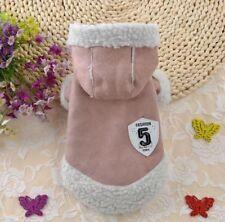 Hundemantel Wintermantel Hundebekleidung Felljacke Chihuahua S Yorky Luxus Rosa