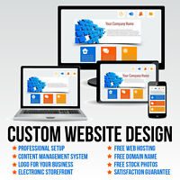 CUSTOM WEBSITE DESIGN PACKAGE + FREE HOSTING AND DOMAIN NAME
