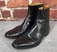 $495 Magnanni 12 M 46 Dress Chelsea Bit Monk Cap Italy Designer Ankle Boots