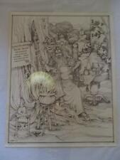 Spelling Dragons Sketch Art Print Signed by S. Hughes