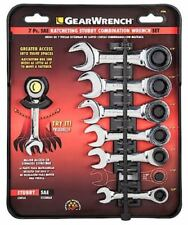 Gear Wrench 7-Piece Stubby Wrench Set,  SAE NEW