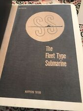 Vintage Ss The Fleet Type Submarine Bound Book dated June 1946 (Navpers 16160)